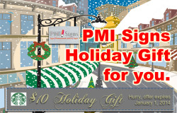 PMI Signs Holiday offer