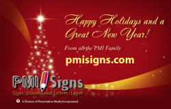 pmisign Holiday card 2013